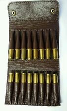 .243 / .264/ .308 Bullet wallet. Brown real leather. With brass coloured studs..