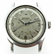 1954 Vintage Rolex Oyster Perpetual semi bubble Steel Mens Watch ref 6332 NO RES