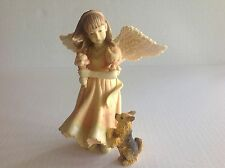 "Angels Among Us ""Angel with Ice cream and Puppy"" Figurine by Betty Singer 2004"