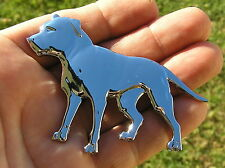 ~ PITBULL CAR MOTORCYCLE EMBLEM #2 Chrome Metal Badge *NEW!* PIT BULL DOG