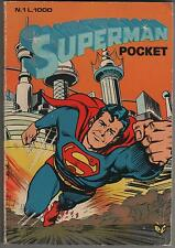 SUPERMAN  POCKET cenisio   N. 1 (2) 1980  batman