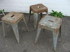 3er Set original alte TOLIX Hocker Stools Vintage Industrie Design Klassiker RAR