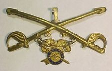 1910 - WW1 *1st Cav Div Quartermaster* US Army Officers Collar -Cavalry-  Sew On