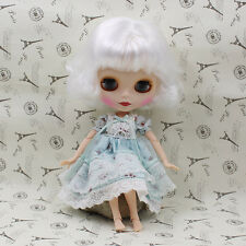 Neo Blythe Factory Nude Doll White short Hair JD912 mate face AZONE special Body