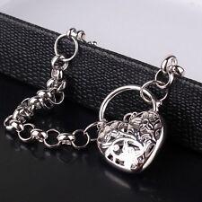 """Lady charms 18k white gold filled brand new cool designer bracelet 7""""19.7g"""