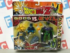 DBZ Jakks Bandai Dragon Ball Z 2 Packs Good vs Evil Trunks Perfect Cell Figures