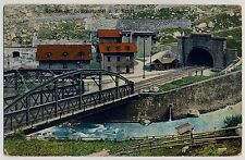 Schweiz GÖSCHENEN Uri / Gotthard-Tunnel & die Reuss / Eisenbahn * AK um 1910