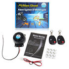 Motorcycle Anti-theft Security Alarm System Dual Remote Control Sensor 120-125dB
