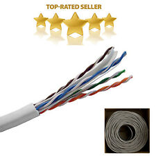 CAT6 GRAY 1000FT 23 AWG 550 MHZ UTP SOLID NETWORK ETHERNET CABLE BULK WIRE LAN