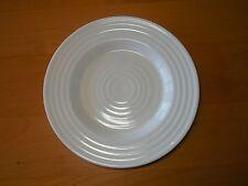 Food Network MERINGUE WHITE Set of 3 Salad Plates 8 1/4 Embossed Rings