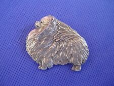 Pomeranian pin STANDING Pewter #66B TOY show dog jewelry by Cindy A. Conter
