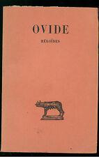 BORNEQUE HENRI OVIDE HEROIDES LES BELLES LETTRES 1965 CLASSCI LATINI