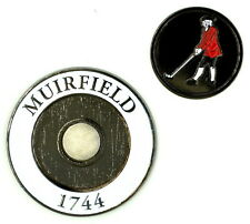 MUIRFIELD Medallion COIN with REMOVABLE Golf BALL MARKER