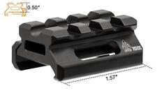 """Leapers UTG slim picatinny/weaver riser mount, Height 0.5"""", 3 fente MT-RSX5S"""