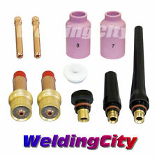 "WeldingCity Gas Lens Accessory Kit (3/32"") for TIG Welding Torch 17/18/26 T14"