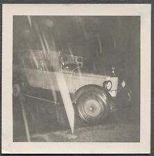 Unusual Vintage Photo Raining Knives & Shards Cutting Time w/ 1920s Car 712738