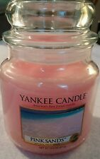 Yankee Candle Medium Jar Candle Pink Sands NEW 14.5 oz unburned made in USA
