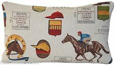 Horse Cushion Cover Horses Race Ascot Jockey Throw Pillow Case Printed Fabric