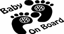 Baby On Board Baby Child Window Bumper Car Sign Decal Sticker VW DUB T4 T5