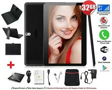 "32GB 10.1"" Tablet PC 3G With Keyboard Case Android Quad Core Phone Call Dual SIM"