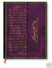 Paperblanks Writing Journal Blank Lined Edgar Allan Poe Mini Size 3x5 New Purple