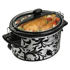 Hamilton Beach Slow Cooker - Black/Silver (4 quart)- 33246