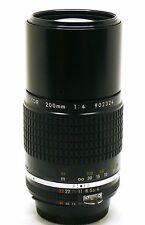 Nikon 200mm f/4 Nikkor AIS MF lens EXC++