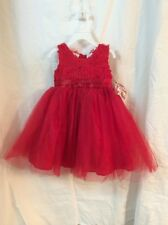 Blueberi Boulevard Red Christmas/Holiday Sleeveless Princess Dress Size 2T NWT