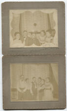 ANTIQUE PHOTO GROUP PHOTO FINE LOOKING TRENDSETTERS. 1900. TWO SET.