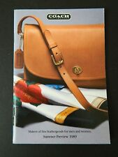 Coach 1989 Summer Preview 65-Page Catalog  HTF