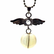 Guardian Angel Inspired Golden Aura Gemstone Crystal Pendant