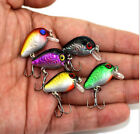 5pcs Mixed Color Spinner NIC Fishing Lures Bass CrankBait Crank Bait Tackle Hook