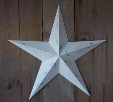 Metal Barn Star 24 Inch Painted Rustic White