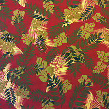 S94 Red Palm Tree Tropic Garden Floral Patio Awning Home Indoor Outdoor Fabric
