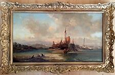 Early 19th Century Oil Painting On Canvas Unsigned GILT Frame