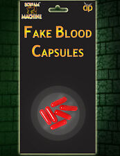 6 FAKE BLOOD CAPSULES HALLOWEEN MAKE UP PRANK ZOMBIE VAMPIRE FANCY DRESS 11367