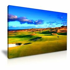 BELLISSIMO St. Andrews Vecchio Golf CANVAS WALL ART PICTURE PRINT 76x50cm