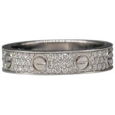 CARTIER Love Diamond and White 18K Gold Band Ring
