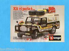 TOP985-PUBBLICITA'/ADVERTISING-1985- BURAGO - LAND ROVER RAID  1:24