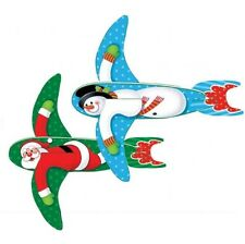2 Pack Santa and Snowman Poly Flying Gliders – Festive Christmas Stocking Filler