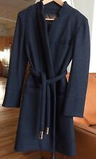 Louis Vuitton Wool Tweed Wrap Coat Dark Grey Size FR38/US6 Wore Only Once