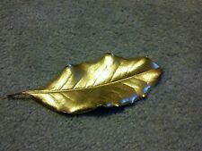 Magnolia leaves painted gold for Christmas holiday natural decorations; Qty 12