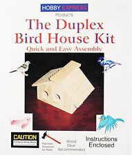 NEW Hobby Express Duplex Bird House Kit w/Pre-Drilled Holes 60004PD