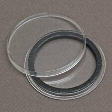 (25) 38mm Black Ring Air-Tite Coin Holder Capsules for American Silver Dollars