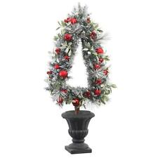 Home Accents Holiday 45 in in Height,  Unlit Artificial Christmas Tree Topiary
