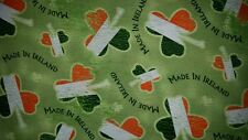 LINED VALANCE 42X12 MADE IN IRELAND WORDS SHAMROCK CLOVER IRISH FLAG ST PATRICKS
