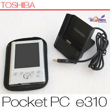 PDA toshiba Pocket PC e310 Windows Mobile mp3 pantalla táctil Docking Station