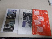 Lot of 3 Volvo Commercial Truck Operation's Manuals Maintenance Cummins ISX