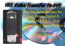 VHS To DVD or Digital Media TRANSFER SERVICE Proffesional and Reliable