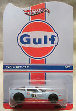 "Hot Wheels CUSTOM CORVETTE ZR1 ""Gulf Racing"" Real Riders Limited #8/25 Made!"